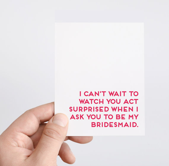 bridesmaid proposal ideas - card by spade stationery