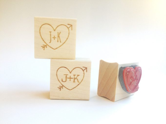 stamps | via Heart and Arrow Wedding Ideas: https://emmalinebride.com/themes/heart-and-arrow-wedding-ideas