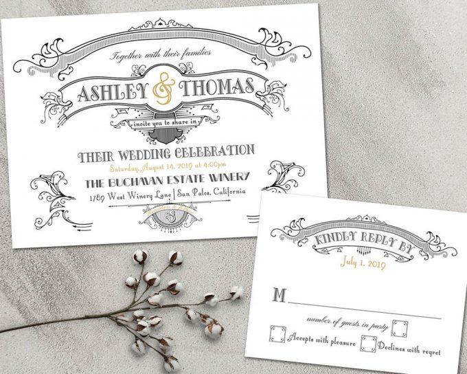 great gatsby via free wedding invitations giveaway | https://emmalinebride.com/2017-giveaway/giveaway-win-free-wedding-invitations/