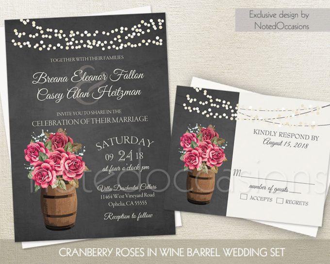 lights roses via free wedding invitations giveaway | http://emmalinebride.com/2017-giveaway/giveaway-win-free-wedding-invitations/