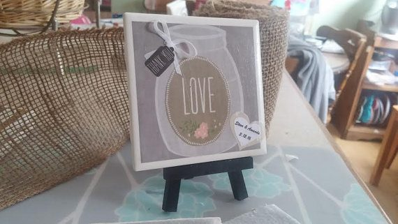 coaster wedding favors by hand to home concepts on etsy