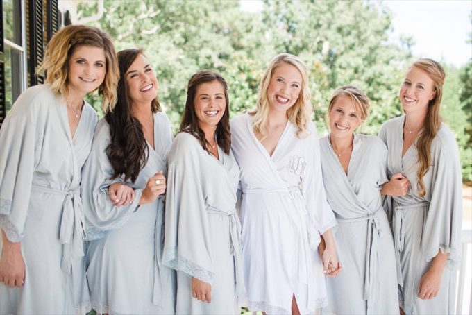 Monogrammed Bridal Robe | https://emmalinebride.com/2017-giveaway/monogrammed-bridal-robe/