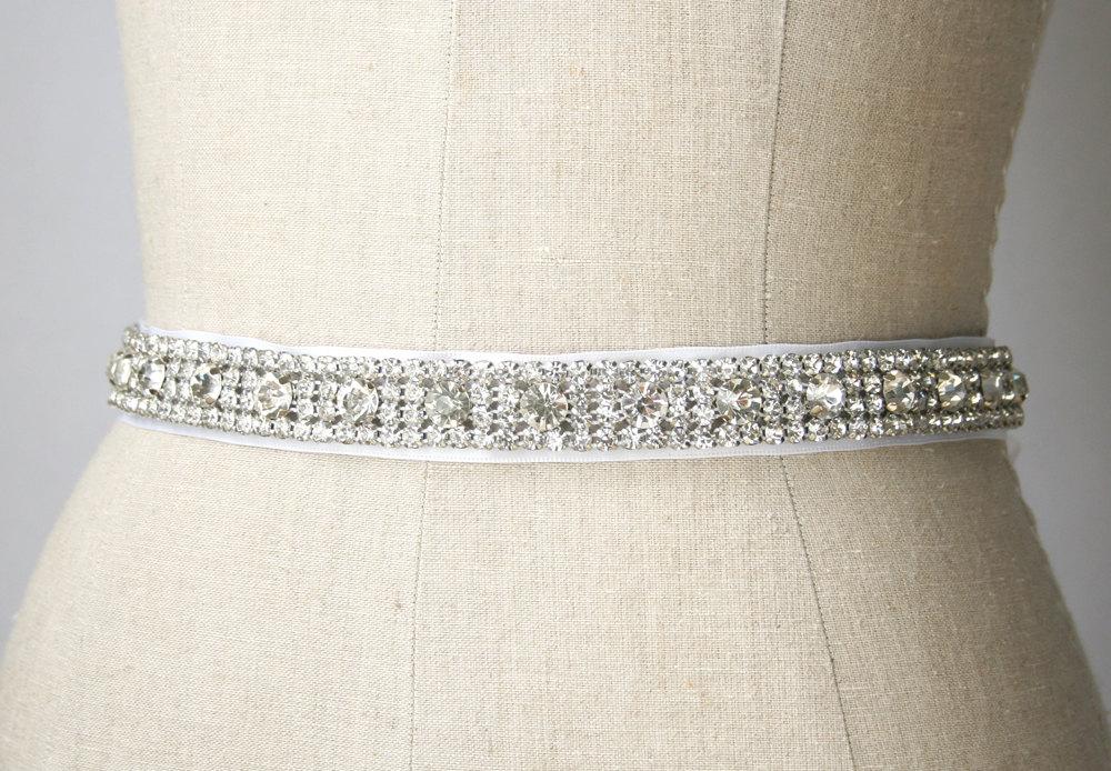 rhinestones | elegant bridal sashes by laura stark | http://emmalinebride.com/bride/elegant-bridal-sashes/