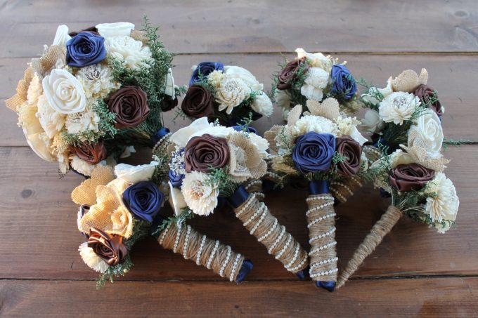 Alternative bouquets for weddings