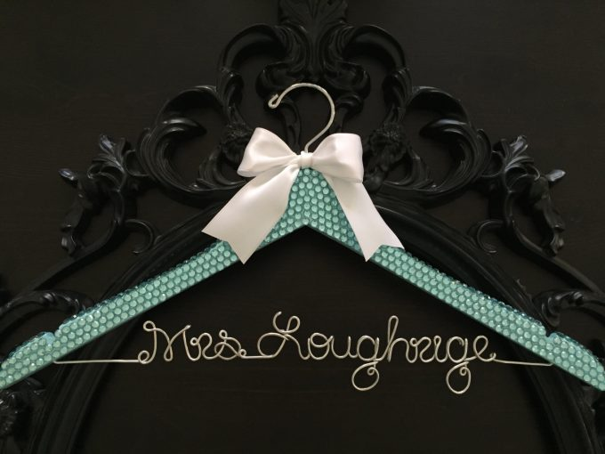 Where to buy personalized dress hangers for weddings | by Get Hung Up