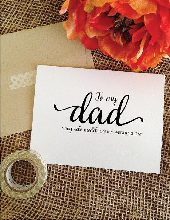 Cute wedding day cards for parents, siblings, best friend, groom, bride, etc. | via https://emmalinebride.com/gifts/wedding-day-cards-for-parents/