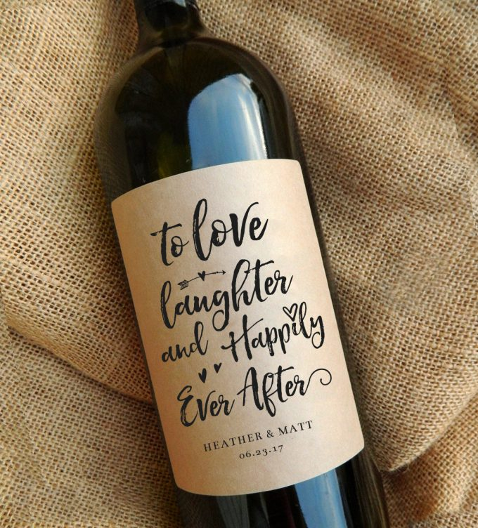 wine labels | via Heart and Arrow Wedding Ideas: https://emmalinebride.com/themes/heart-and-arrow-wedding-ideas