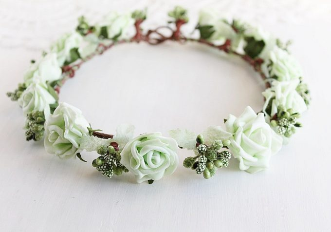 where to buy flower hair wreaths for weddings | https://emmalinebride.com/bride/where-to-buy-flower-hair-wreaths-for-weddings