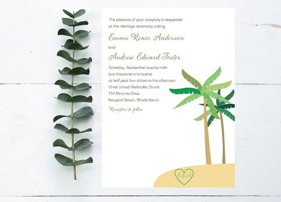 27 Tropical Palm Tree Wedding Ideas | http://emmalinebride.com/themes/palm-tree-wedding-ideas/
