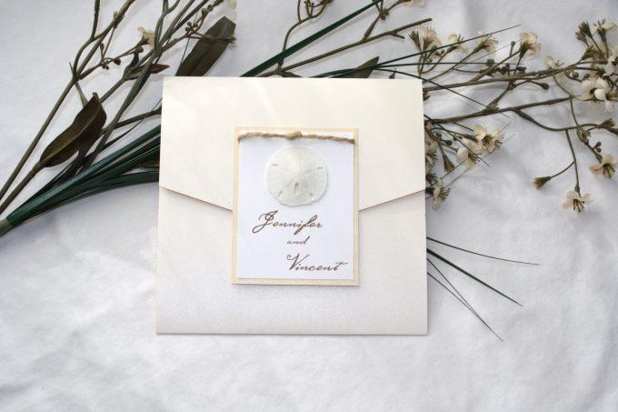 sand dollar beach wedding invitations | https://emmalinebride.com/wedding/sand-dollar-beach-wedding-invitations/