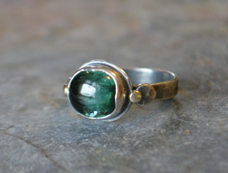 Handmade gemstone engagement rings by Ruby Pierce Jewelry | via https://emmalinebride.com/engagement/handmade-gemstone-engagement-rings/