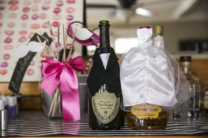 dom perignon in this Crystal Coast Wedding | North Carolina wedding photographed by Ellen LeRoy Photography - https://emmalinebride.com/real-weddings/breathtaking-crystal-coast-wedding-mara-will-married/