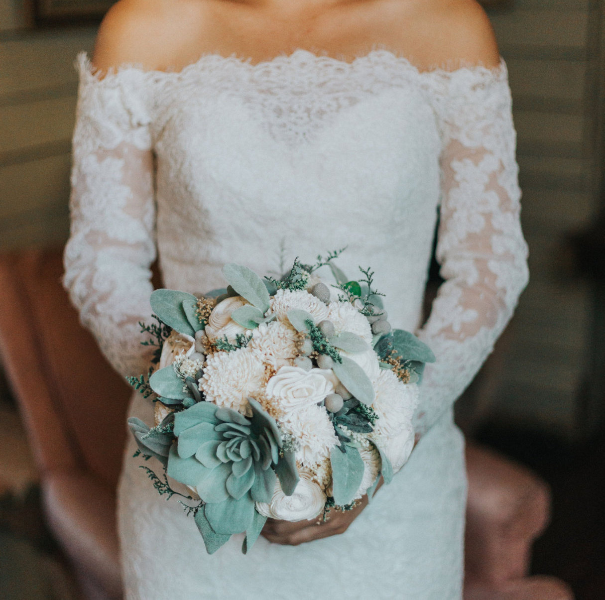 wedding bouquet ideas without flowers