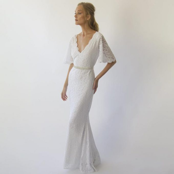 are lace wedding dresses more expensive