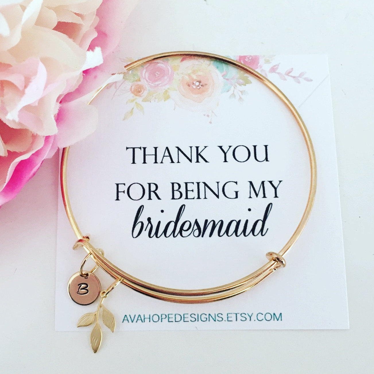 bridesmaid bangle bracelet by ava hope designs | http://etsy.me/2mehsTK