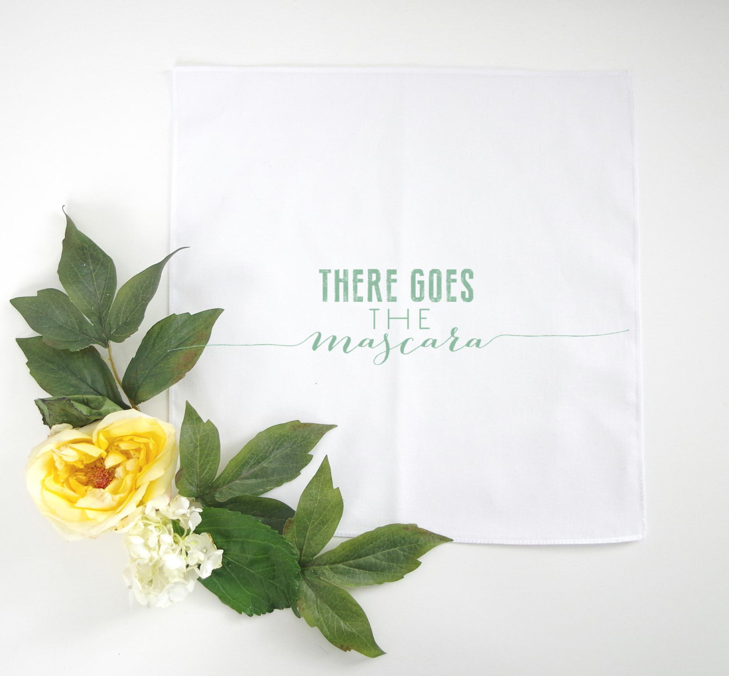 bridesmaid handkerchief | there goes the mascara