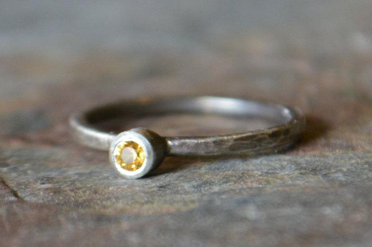 Handmade gemstone engagement rings by Ruby Pierce Jewelry | via http://emmalinebride.com/engagement/handmade-gemstone-engagement-rings/