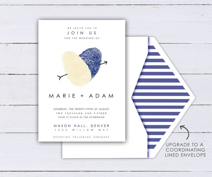 fingerprint wedding invitations
