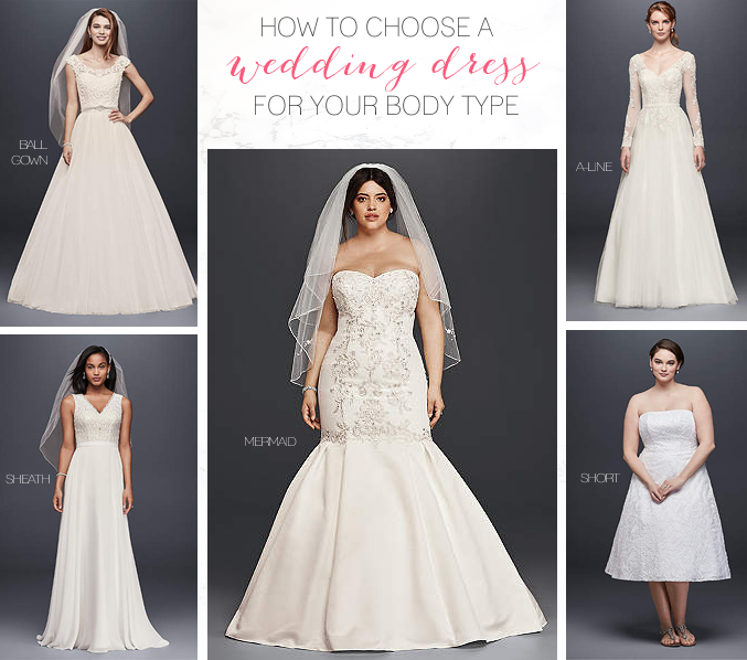 how to choose a wedding dress for your body type