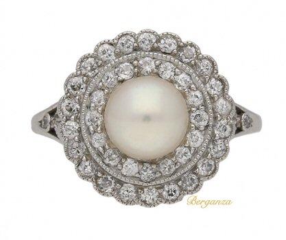 1920s antique engagement rings | via Berganza