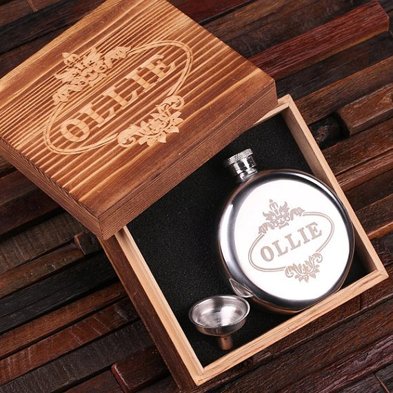 round flask via 26 Best Groomsmen Flasks That Make Awesome Gifts