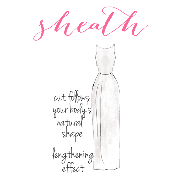 Sheath | How to Choose a Wedding Dress for Your Body Type