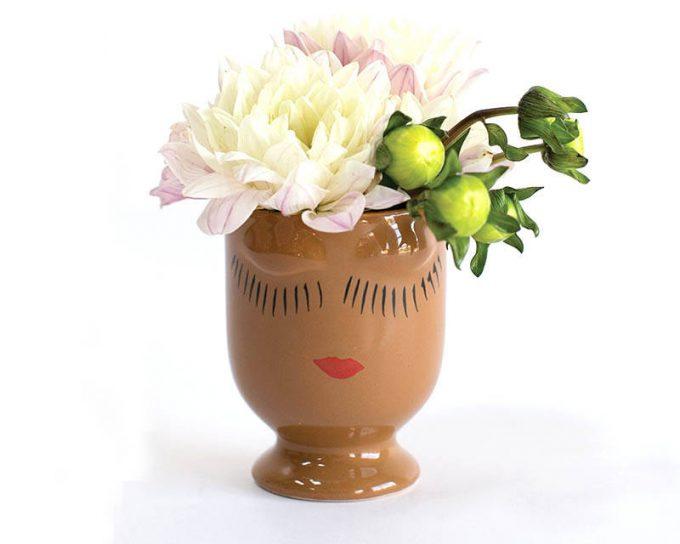 cute face vase