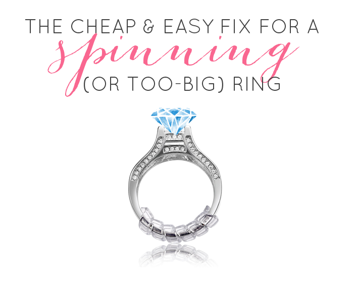 How to keep wedding ring from spinning:  #1 cheap & easy fix