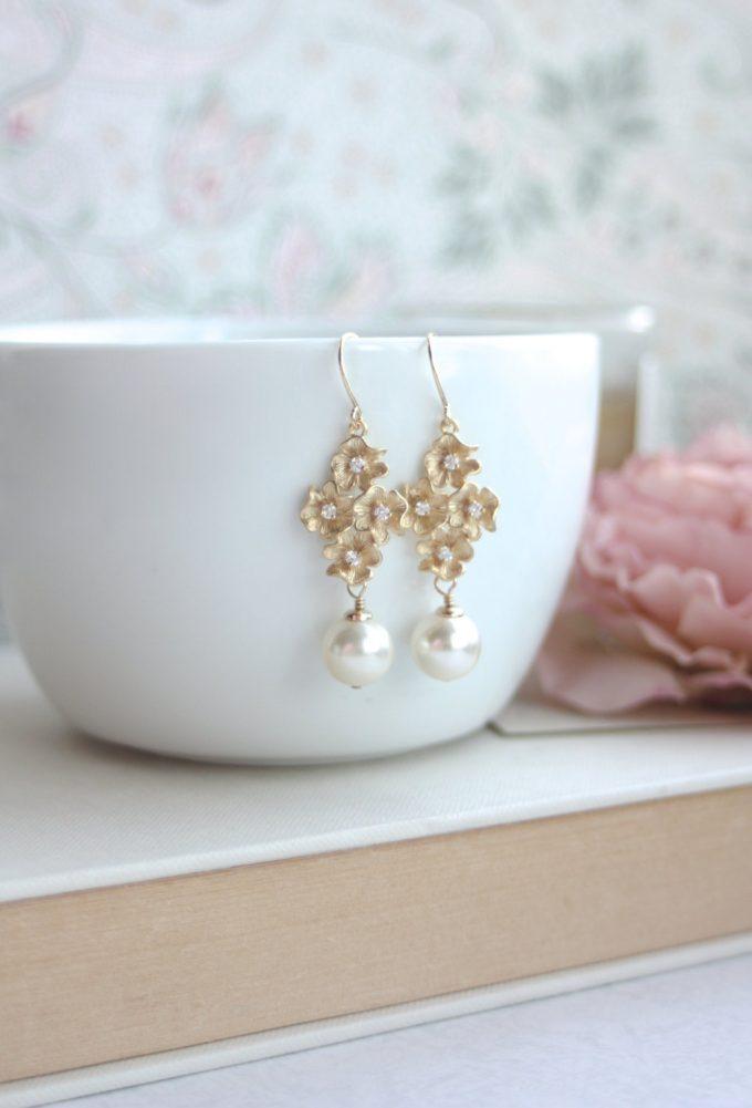 cherry blossom earrings