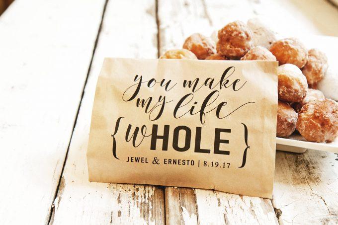 wedding donut favor bags