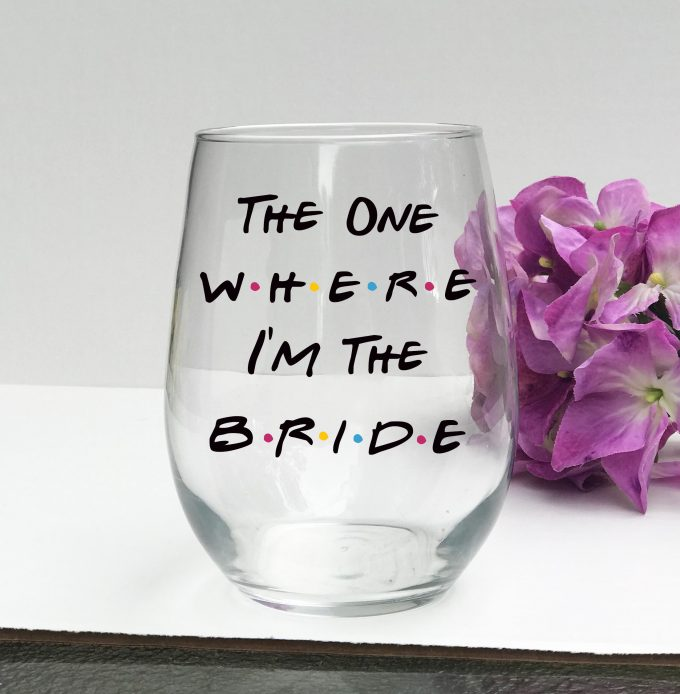 wine themed wedding glass