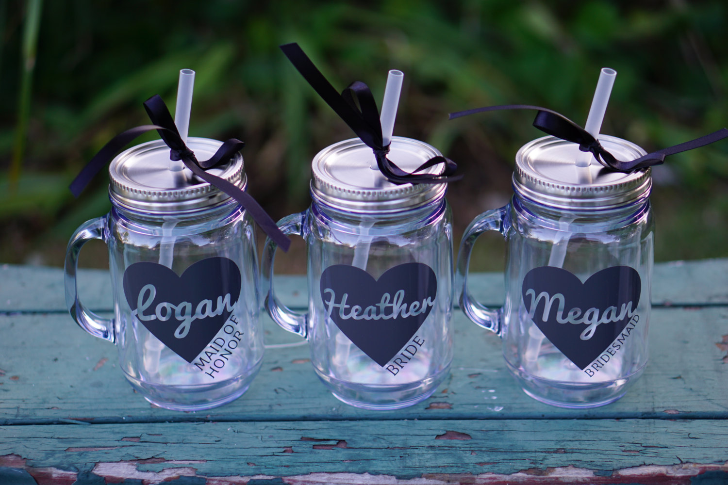 bridesmaid mason jar tumbler