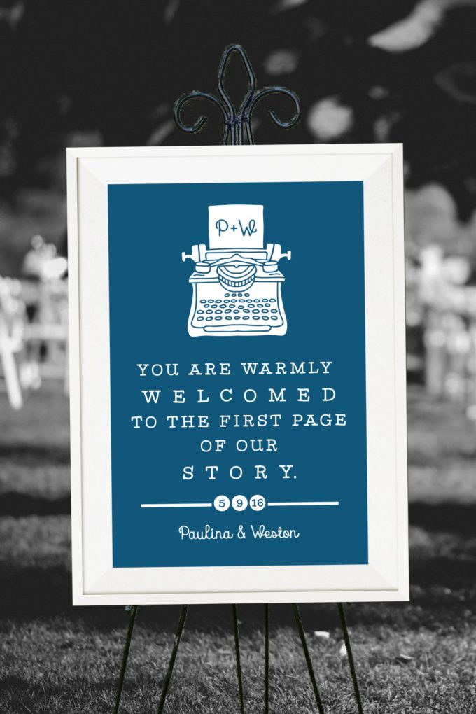 book themed wedding ideas
