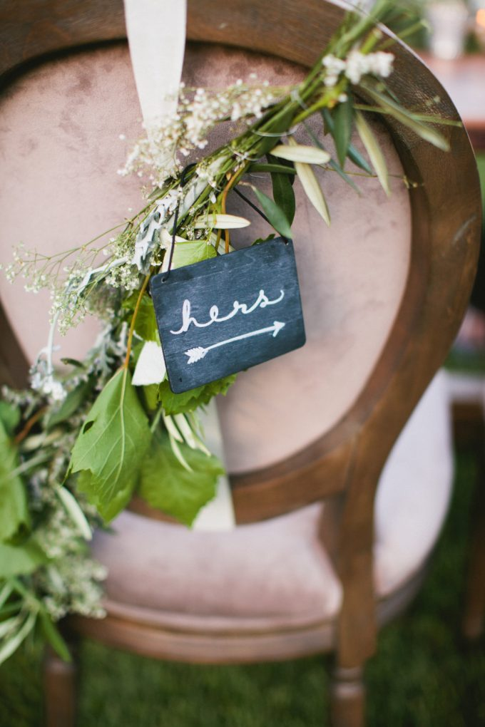 mini chalkboard signs for weddings