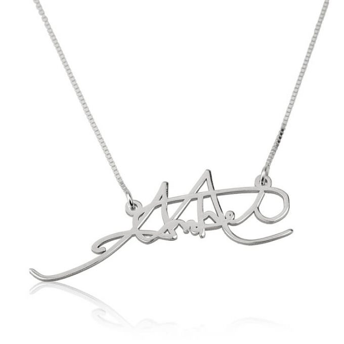 how to make a signature necklace
