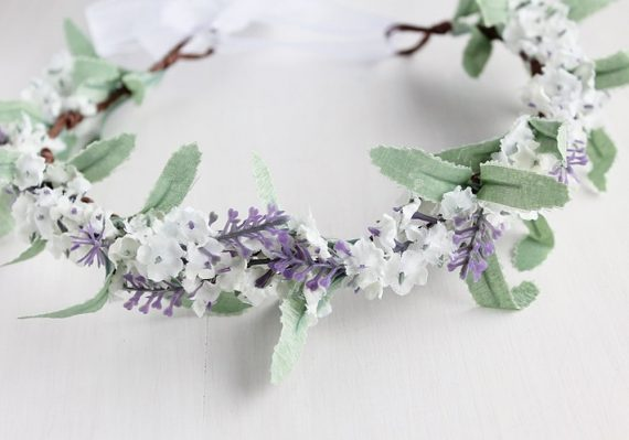 lilac flower crown