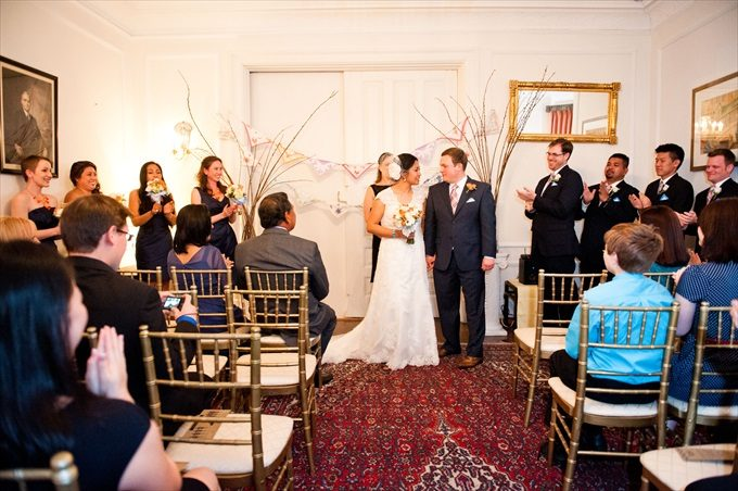 See this Incredible Whittemore House Wedding in Washington DC (Real Weddings) - https://emmalinebride.com/real-weddings/incredible-whittemore-house-wedding | Nithya Sharma Photography