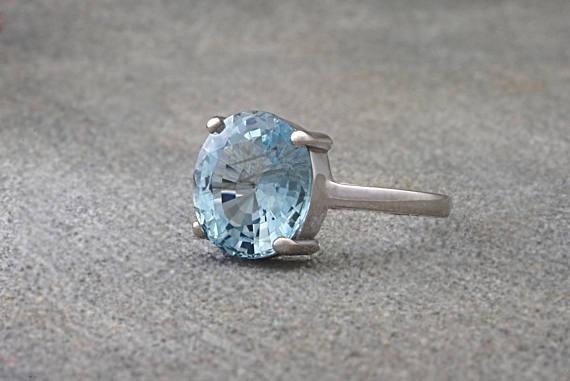 Something Blue Engagement Rings