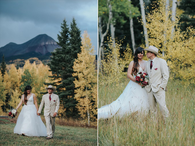 See an Amazing Wedding in Colorado's Beautiful Mountains! - https://emmalinebride.com/real-weddings/see-an-amazing-wedding-in-colorados-beautiful-mountains | Shutterfreek Photography