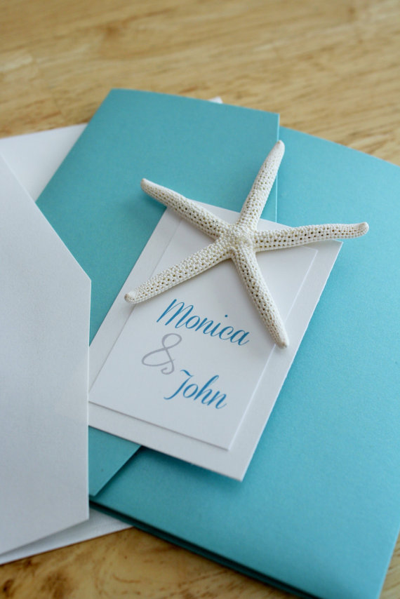 turquoise beach wedding invitations