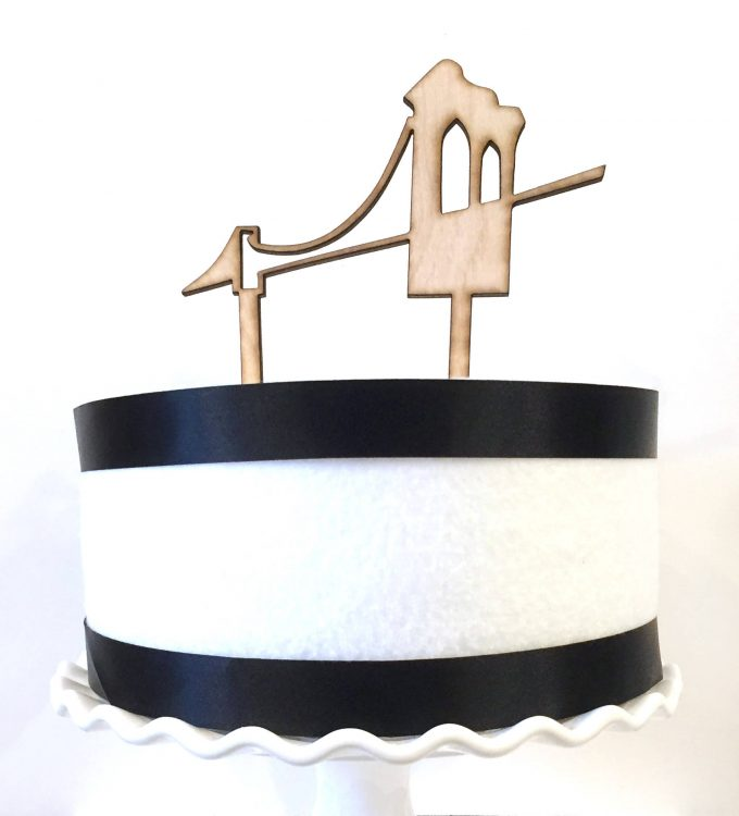 Brooklyn Bridge cake topper by TiffZippy