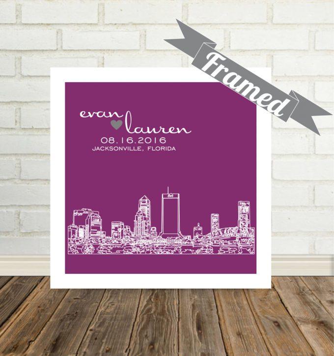 city skyline wall art jacksonville florida
