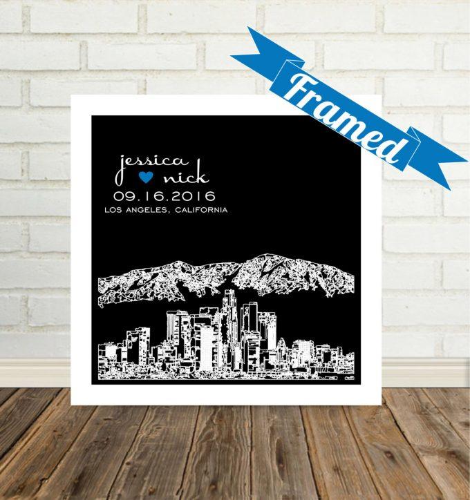 city skyline wall art los angeles california