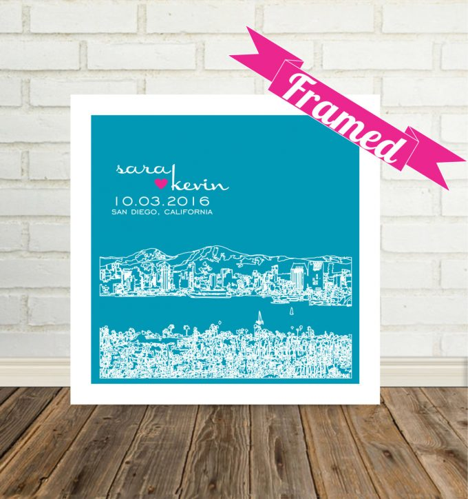 city skyline wall art san diego california