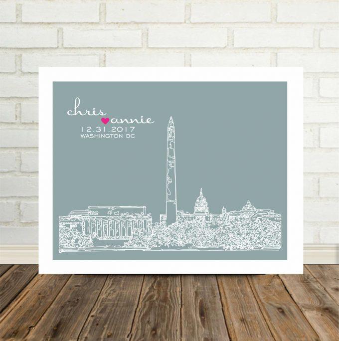 city skyline wall art washington dc