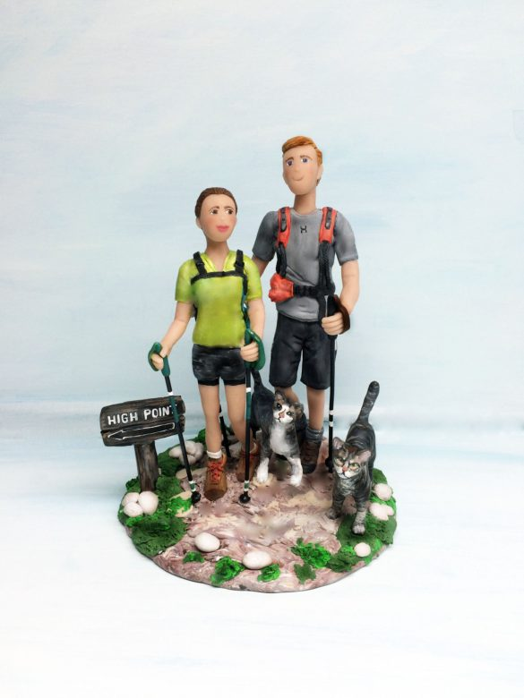hiking cake topper