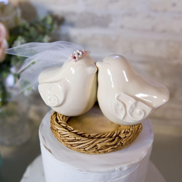 cute bird wedding cake toppers by dances with clay