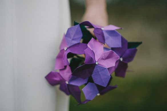 origami wedding flowers