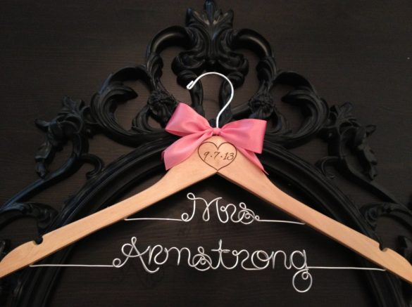Personalized Wooden Hangers for Wedding Dress