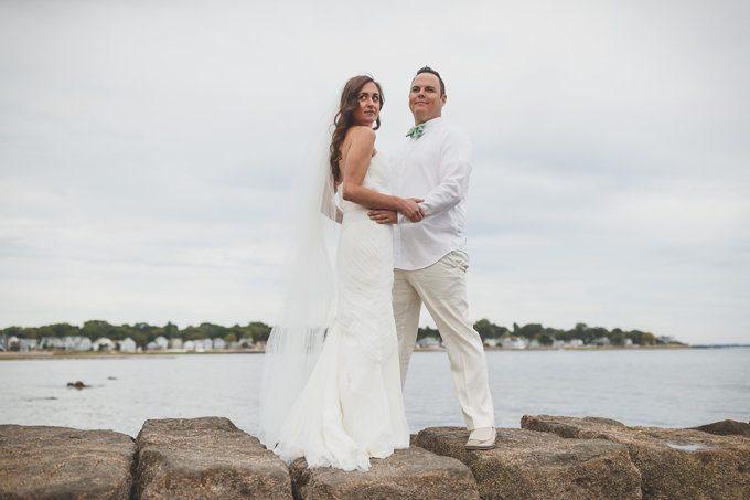 A Beautiful Private Beach Wedding - Milford, Connecticut (Real Weddings) - (milford connecticut beach wedding) - https://emmalinebride.com/real-weddings/milford-connecticut-beach-wedding | Butler Photography, LLC
